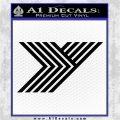 Yokohama Decal Sticker Black Logo Emblem 120x120