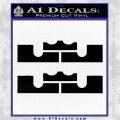 x2 LEBRON KING JAMES New Logo MiamiI Heat High DLB Decal Sticker Black Logo Emblem 120x120