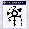 Prince Doves Cry Halo Decal Sticker Black Vinyl Logo Emblem 120x120