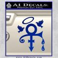 Prince Doves Cry Halo Decal Sticker Blue Vinyl 120x120