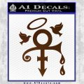 Prince Doves Cry Halo Decal Sticker Brown Vinyl 120x120