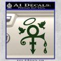 Prince Doves Cry Halo Decal Sticker Dark Green Vinyl 120x120