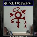 Prince Doves Cry Halo Decal Sticker Dark Red Vinyl 120x120