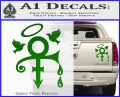 Prince Doves Cry Halo Decal Sticker Green Vinyl 120x97