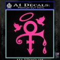Prince Doves Cry Halo Decal Sticker Hot Pink Vinyl 120x120