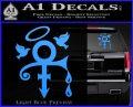 Prince Doves Cry Halo Decal Sticker Light Blue Vinyl 120x97