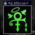 Prince Doves Cry Halo Decal Sticker Lime Green Vinyl 120x120