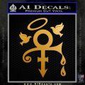 Prince Doves Cry Halo Decal Sticker Metallic Gold Vinyl 120x120