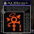 Prince Doves Cry Halo Decal Sticker Orange Vinyl Emblem 120x120