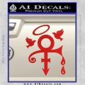 Prince Doves Cry Halo Decal Sticker Red Vinyl 120x120