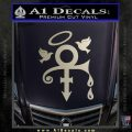 Prince Doves Cry Halo Decal Sticker Silver Vinyl 120x120