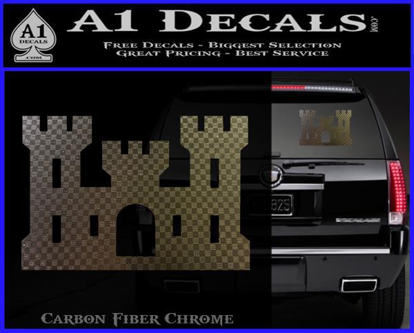 U S Army Engineer Castle 2 Wall Window Vinyl Decal Sticker Military Ebay