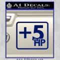 +5 HP Funny JDM Decal Stick Blue Vinyl 120x120