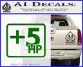 +5 HP Funny JDM Decal Stick Green Vinyl Logo 120x97