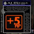 +5 HP Funny JDM Decal Stick Orange Emblem 120x120
