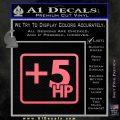 +5 HP Funny JDM Decal Stick Pink Emblem 120x120
