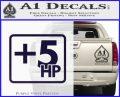 +5 HP Funny JDM Decal Stick PurpleEmblem Logo 120x97