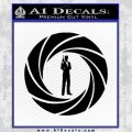 007 Circle Barrel James Bond Decal Sticker Black Vinyl 120x120