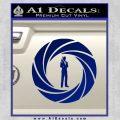 007 Circle Barrel James Bond Decal Sticker Blue Vinyl 120x120