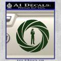 007 Circle Barrel James Bond Decal Sticker Dark Green Vinyl 120x120