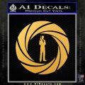 007 Circle Barrel James Bond Decal Sticker Gold Vinyl 120x120