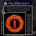 007 Circle Barrel James Bond Decal Sticker Orange Emblem 120x120