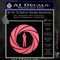 007 Circle Barrel James Bond Decal Sticker Pink Emblem 120x120