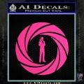 007 Circle Barrel James Bond Decal Sticker Pink Hot Vinyl 120x120