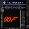 007 Decal Sticker James Bond Official Orange Emblem 120x120