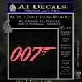007 Decal Sticker James Bond Official Pink Emblem 120x120