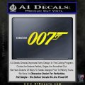 007 Decal Sticker James Bond Official Yellow Laptop 120x120