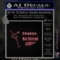007 James Bond Shaken Not Stirred Decal Sticker Pink Emblem 120x120