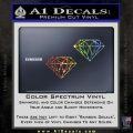 2 Diamonds JDM Decal Sticker Glitter Sparkle 120x120