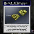 2 Diamonds JDM Decal Sticker Yellow Laptop 120x120