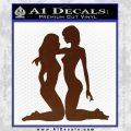 2 Lesbians Decal Sticker BROWN Vinyl 120x120