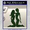 2 Lesbians Decal Sticker Dark Green Vinyl 120x120