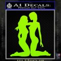 2 Lesbians Decal Sticker Lime Green Vinyl 120x120
