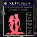 2 Lesbians Decal Sticker Pink Emblem 120x120