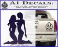 2 Lesbians Decal Sticker PurpleEmblem Logo 120x97