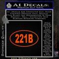 221b Sherlock Holmes Euro Decal Sticker Orange Emblem 120x120