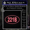 221b Sherlock Holmes Euro Decal Sticker Pink Emblem 120x120