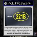 221b Sherlock Holmes Euro Decal Sticker Yellow Laptop 120x120