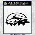 4×4 Off Road Decal Sticker D6 Black Vinyl 120x120