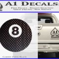 8 Ball Decal Sticker Billiards Carbon FIber Black Vinyl 120x120