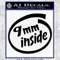 9mm Inside Gun Decal Sticker Black Vinyl 120x120