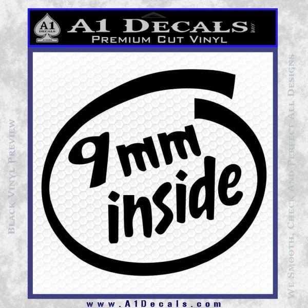 Mm inside gun decal sticker a decals