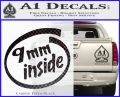 9mm Inside Gun Decal Sticker Carbon FIber Black Vinyl 120x97