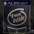 9mm Inside Gun Decal Sticker Carbon FIber Chrome Vinyl 120x120