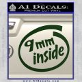 9mm Inside Gun Decal Sticker Dark Green Vinyl 120x120
