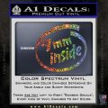 9mm Inside Gun Decal Sticker Glitter Sparkle 120x120